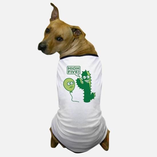 cactus_high_five Dog T-Shirt
