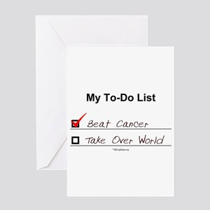 Chemo greeting cards cafepress 10 x 5 my to do list greeting cards m4hsunfo