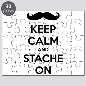 Keep Calm and Stache On Puzzle