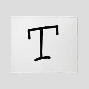 Bookworm Monogram T Throw Blanket