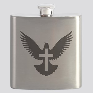 Dove with Cross Flask
