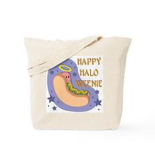 Halloween: Happy Halo Weenie Tote Bag