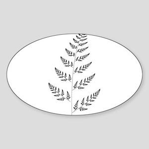 Fractal Fern Oval Sticker