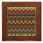 Native American Indian Beadwork Framed Tile