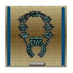 Indian Squashblossom Tile Coaster