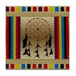 Indian Dreamcatcher Beadwork Tile Coaster