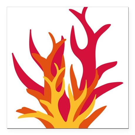 "abstract_fire Square Car Magnet 3"" x 3"""