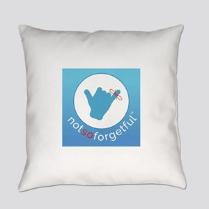 Not So Forgetful_White Text Everyday Pillow