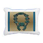 Indian Squashblossom Rectangular Canvas Pillow