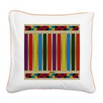 Native American Indian Beadwo Square Canvas Pillow
