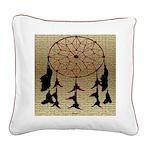 Indian Dreamcatcher Square Canvas Pillow
