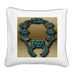 Indian Squashblossom Square Canvas Pillow