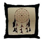 Indian Dreamcatcher Throw Pillow