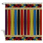 Native American Indian Beadwork Shower Curtain