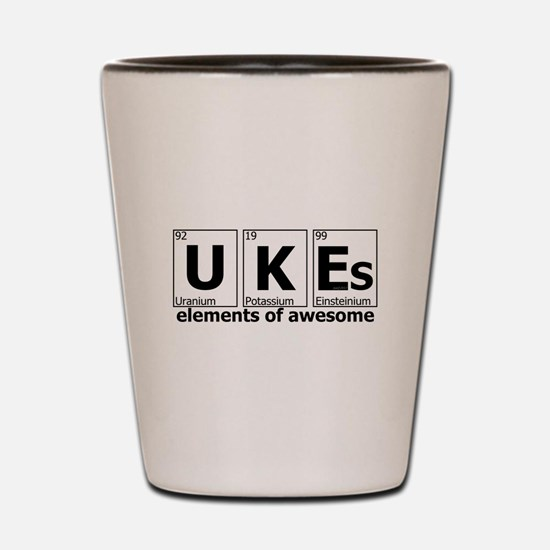 UKEs Elements of Awesome Shot Glass