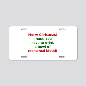 Merry Christmas Menstrual Blood Aluminum License P