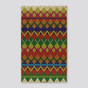 Native American Indian Beadwork Area Rug