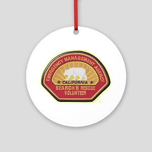 California EMA Search Rescue Ornament (Round)