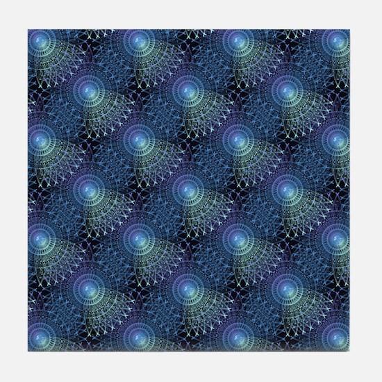 Steampunk in Blue Tile Coaster