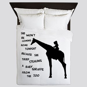 Giraffenapping Queen Duvet