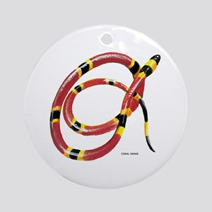 Coral Snake Ornament (Round)