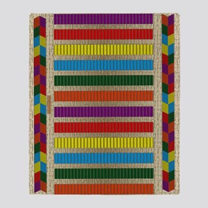 Indian Beadwork Throw Blanket