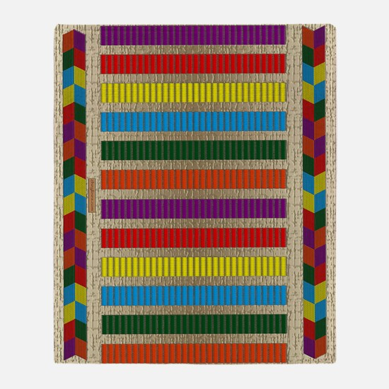Indian Beadwork Throw Blanket