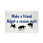 Adopt A Mutt Rectangle Magnet (100 pack)