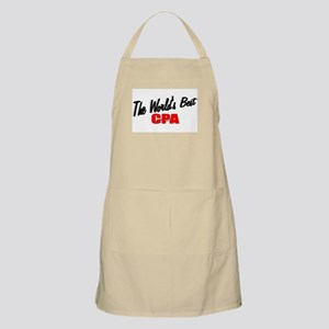 """""""The World's Best CPA"""" BBQ Apron"""