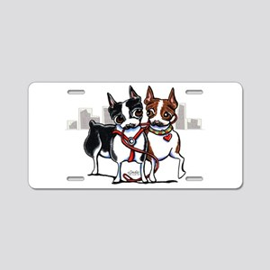 Bostons in the City Aluminum License Plate