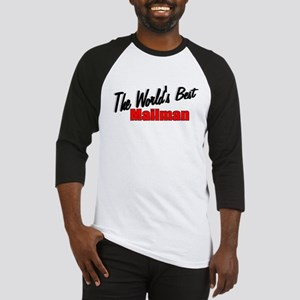 """The World's Best Mailman"" Baseball Jersey"