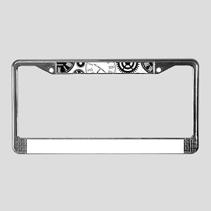 Clock's License Plate Frame