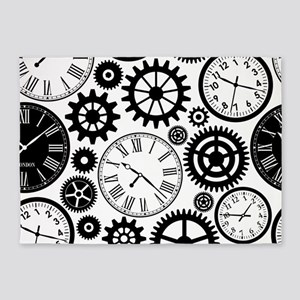 Clock's 5'x7'Area Rug