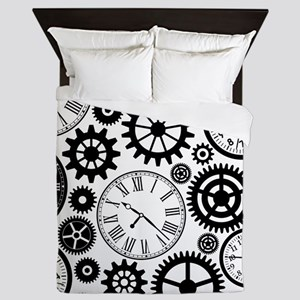 Clock's Queen Duvet