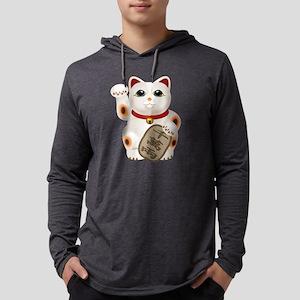 Kawaii Japanese Lucky Cat  Mens Hooded Shirt