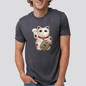 Kawaii Japanese Lucky Cat  Mens Tri-blend T-Shirt
