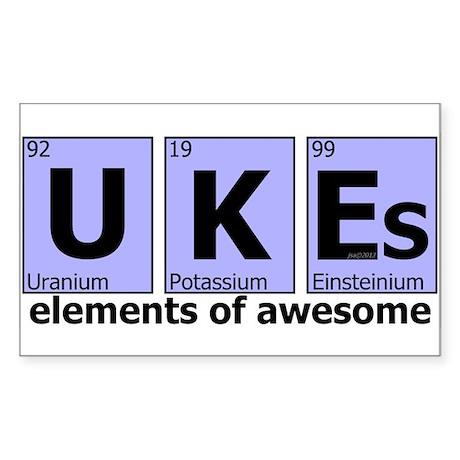 UKEs - Elements of Awesome Sticker (Rectangle)