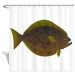 Halibut fish Shower Curtain