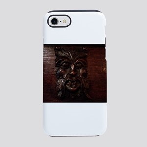 Green Man face iPhone 7 Tough Case