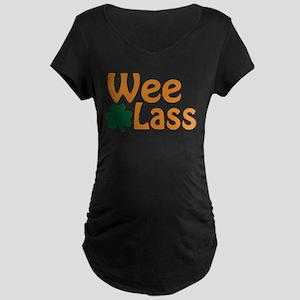 Wee Lass Shamrock Maternity T-Shirt