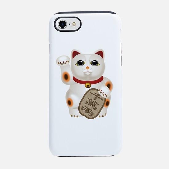 Kawaii Japanese Lucky Cat iPhone 7 Tough Case