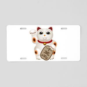 Kawaii Japanese Lucky Cat Aluminum License Plate