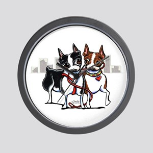 Bostons in the City Wall Clock