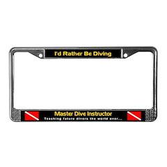 Master Dive Instructor, License Plate Frame