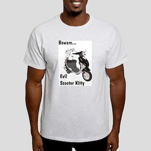Evil Kitty Buddy Ash Grey T-Shirt