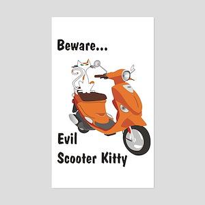 Evil Kitty Buddy Rectangle Sticker