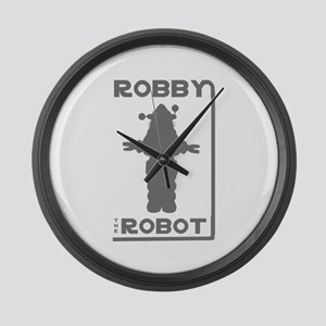 Robby the Robot Outline Large Wall Clock