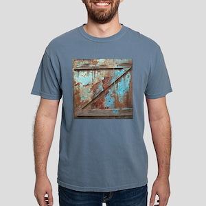distressed turquoise bar Mens Comfort Colors Shirt