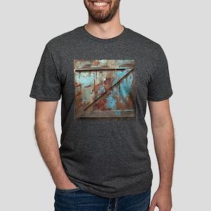 distressed turquoise barn w Mens Tri-blend T-Shirt