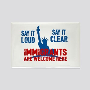 Immigrants Welcome Rectangle Magnet